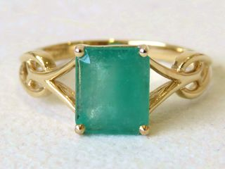 9k Yellow Gold 1.84ct Emerald Ring