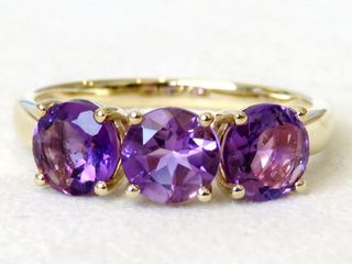 9k Yellow Gold 2ct Amethyst Ring