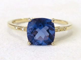 9k Yellow Gold 2.59ct Fluorite Ring