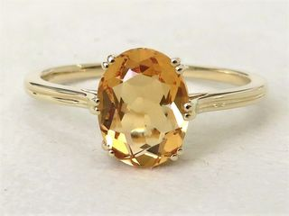 9k Yellow Gold 1.79ct Citrine Ring