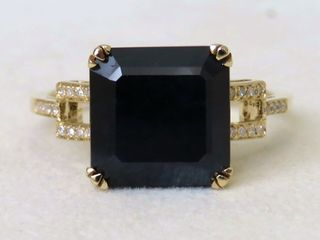 14k Yellow Gold 5.65ct Sapphire & 0.14ct Diamond Ring with Valuation