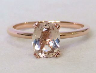9k Rose Gold 1.45ct Morganite Ring