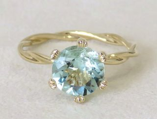 9k Yellow Gold 1.63ct Aquamarine Ring