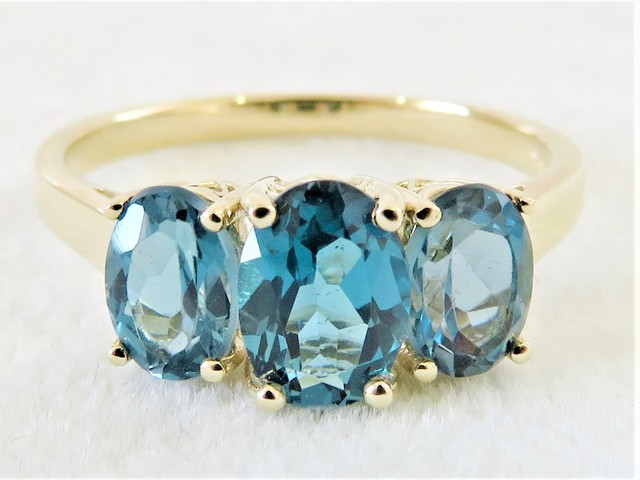 9ct Yellow Gold London Blue Topaz Ring
