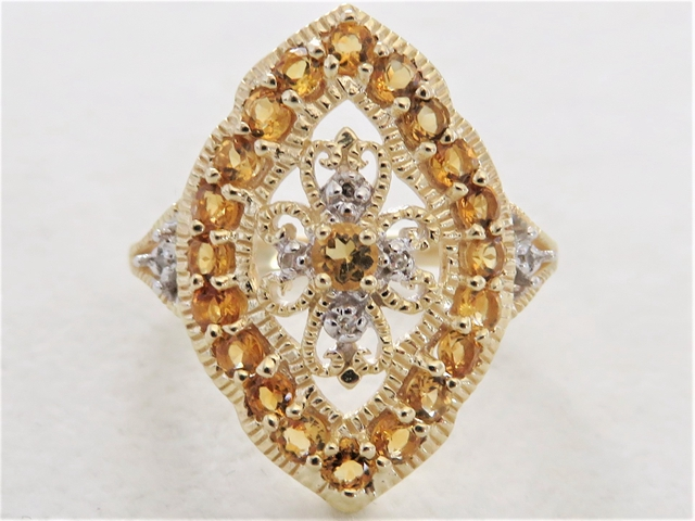 diamond in and jewellers qp rings gold desire ring citrine