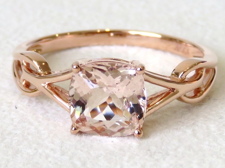 9k Rose Gold 1.46ct Morganite Ring