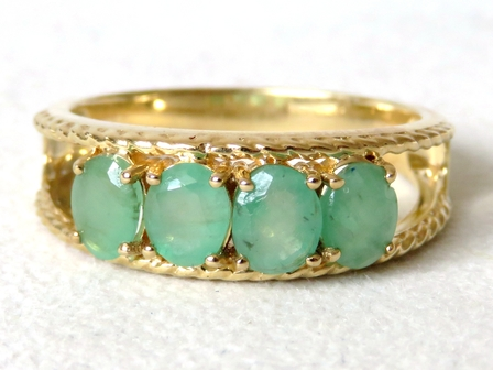 9k Yellow Gold 1.7ct Emerald Ring