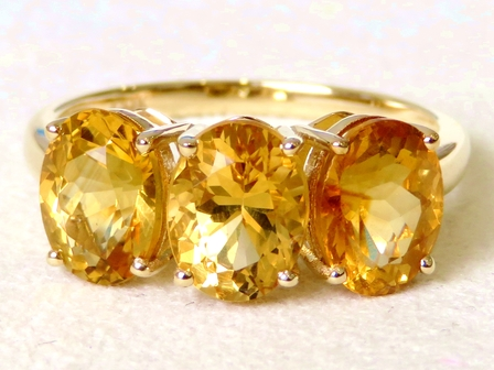 9k Yellow Gold 4.12ct Citrine Ring