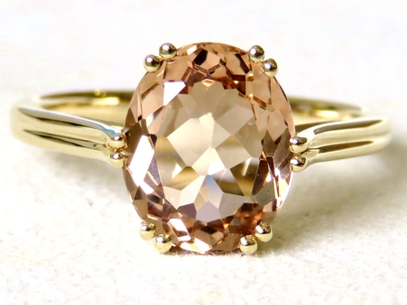 9k Yellow Gold 3.72ct Champagne Topaz Ring