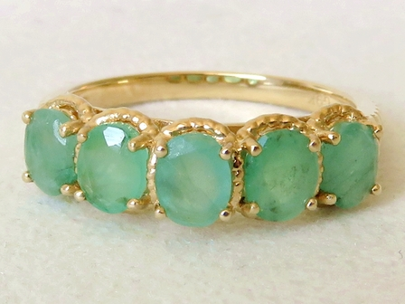 9k Yellow Gold 2.11 Emerald Ring